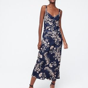 J. Crew Silk midi dress in baroque floral